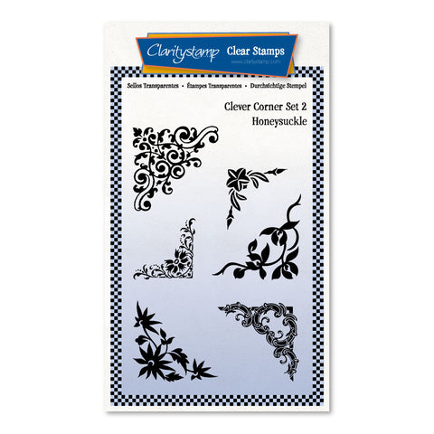 Clever Corners Set 2 - Honeysuckle <br/> A6 Umounted Stamp Set