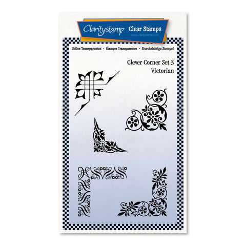 Clever Corners Set 3 - Victorian <br/> A6 Umounted Stamp Set