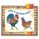 Dancing Cockerel & Hen Stamp and Mask Kit