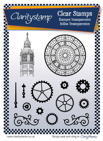 Cogs & Clocks <br/> Unmounted Clear Stamp Set
