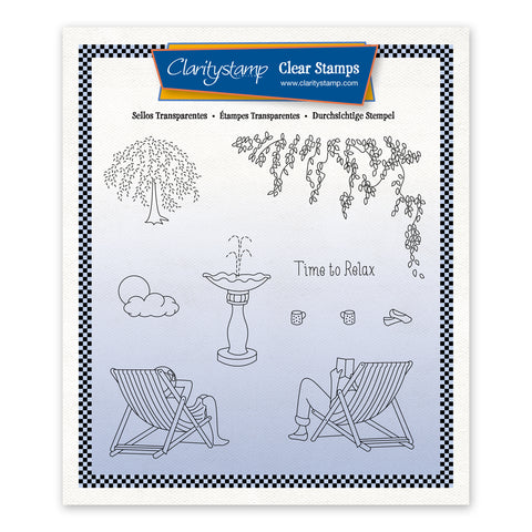 Linda's In the Garden - Deck Chairs Unmounted Stamp Set + Mask (PRE-ORDER)