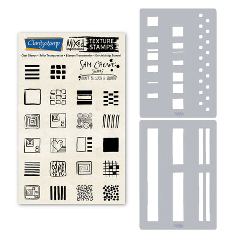 Sam Crowe's Don't Be Such A Square - Squares <br/> Stamp & Stencil Set