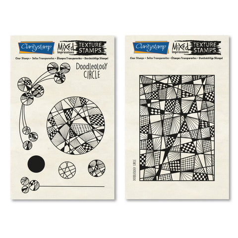 Doodleology - Circle <br/> Mixed Impressions Unmounted Stamps