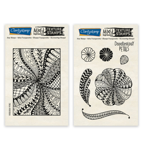 Doodleology Petals - Mixed Impressions Unmounted Clear Stamp Set