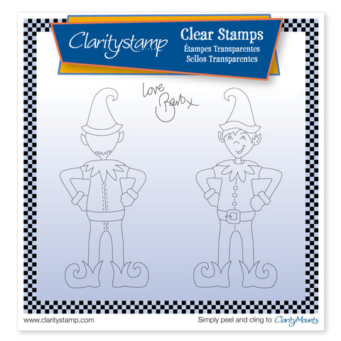 Elvis the Clarity Elf <br/> A5 Square Unmounted Clear Stamp Set