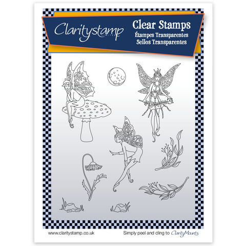Fairy 2 (Moon)  <br/> Unmounted Clear Stamp Set