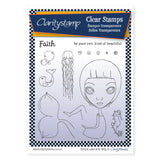 Dee's Friends + Mask - Faith <br/> A5 Unmounted Stamp Set
