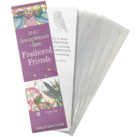 Feathered Friends Colouring Bookmarks