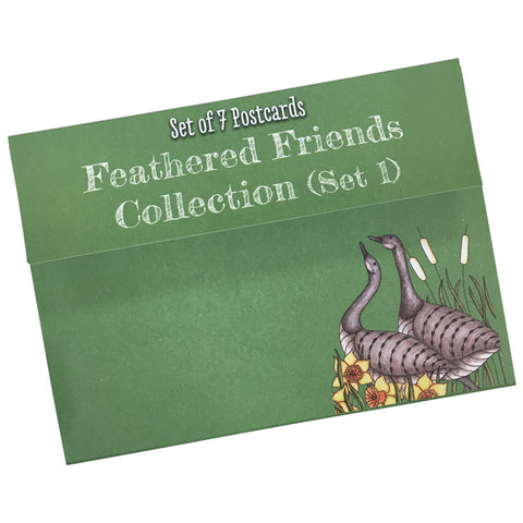 Feathered Friends Colouring Postcards Set 1