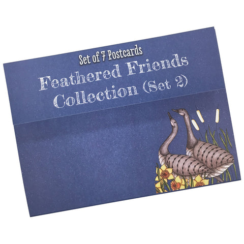 Feathered Friends Colouring Postcards Set 2