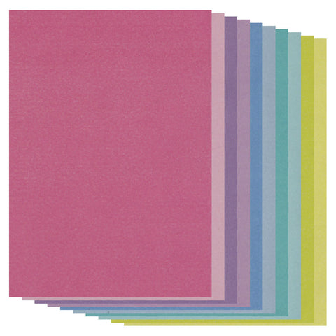 Groovi® Two Tone A5 Coloured Parchment Paper - Mixed (20 Sheets)