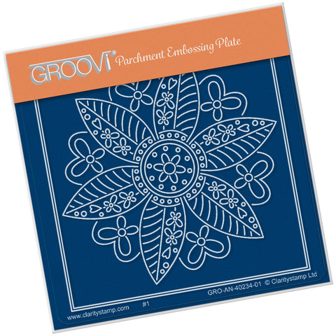 Tina's Butterfly Flower Petite <br/> A6 Square Groovi Plate