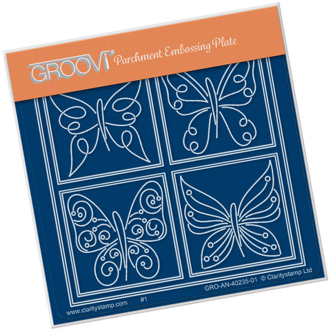 Tina's Butterfly Farfalla Petite <br/> A6 Square Groovi Plate