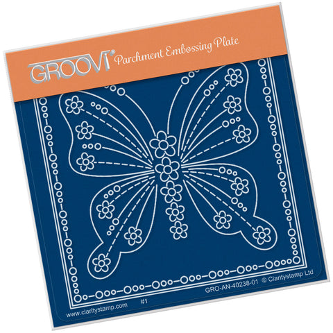 Tina's Butterfly Papillon Petite <br/> A6 Square Groovi Plate