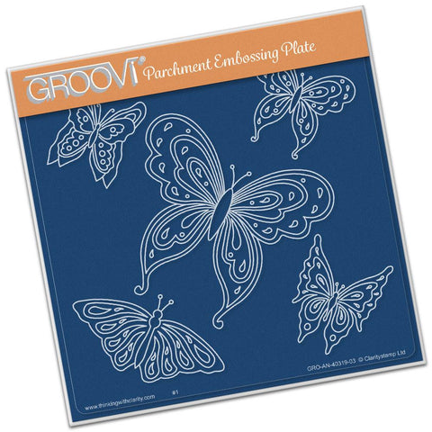 Jayne's Butterflies <br/> A5 Square Groovi Plate