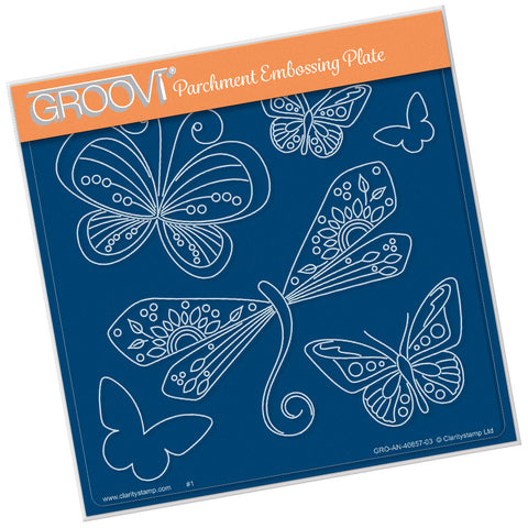 Tina's Dragonfly Fun <br/> A5 Square Groovi Plate