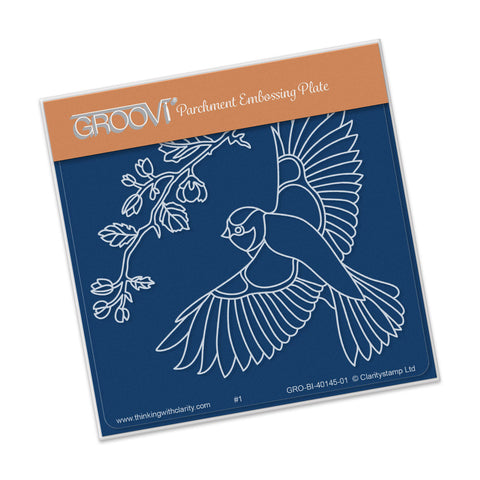 Large Garden Bird with Branch Groovi® Baby Plate A6