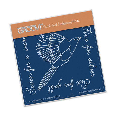 Magpie 2 (Five For Silver) Groovi® Baby Plate A6