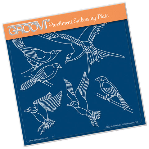 Feathered Friends Groovi Plate A5 Square