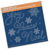 Xmas Words & Small Snowflakes Groovi® Plate A5