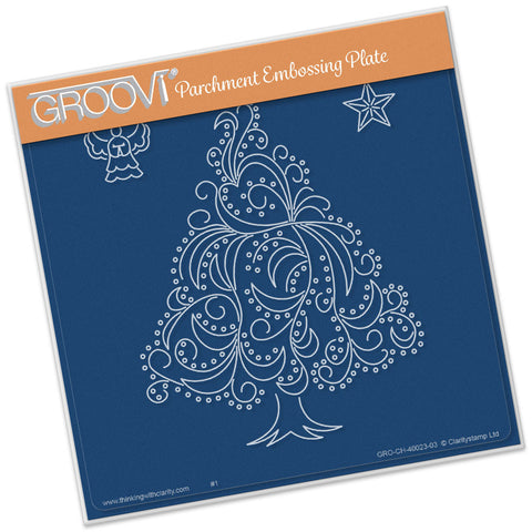 Christmas Tree, Angel & Star Groovi® Plate A5