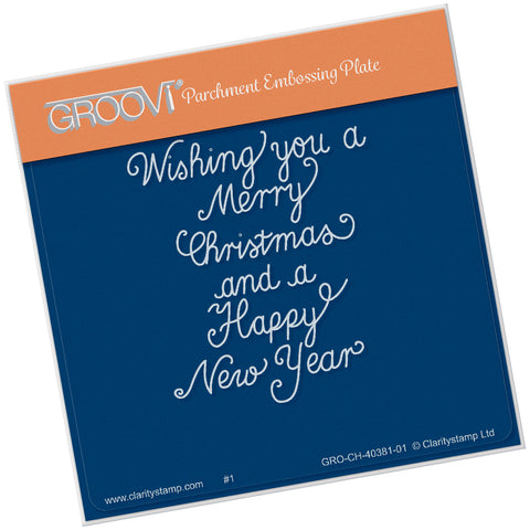 Traditional Christmas Message <br/> A6 Square Groovi Plate