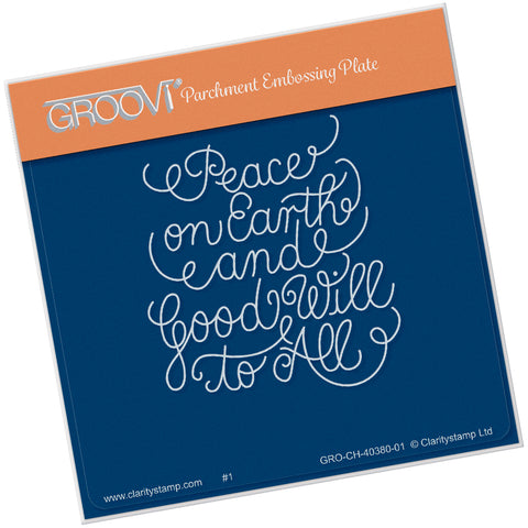 Peace on Earth <br/> A6 Square Groovi Plate