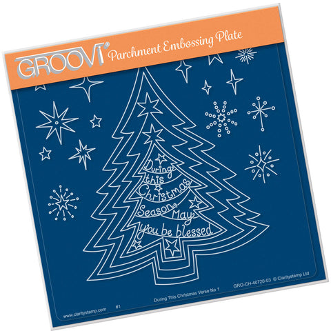 Nested Christmas Tree & Verse No.1 <br/> A5 Square Groovi Plate