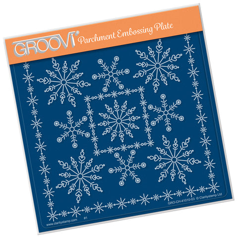 Tina's Snowflake Frame <br/> A5 Square Groovi Plate