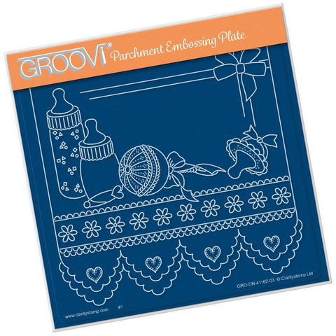 Linda's Baby Necessities <br/> A5 Square Groovi Plate <br/> (PRE-ORDER)