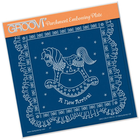 Linda's A New Arrival <br/> A5 Square Groovi Plate