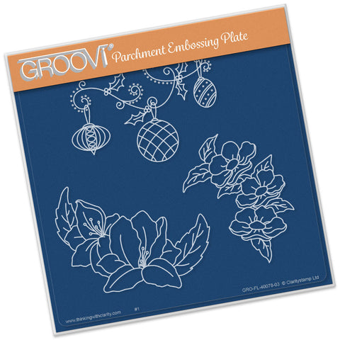 Frilly Circle Friends Groovi® Plate A5