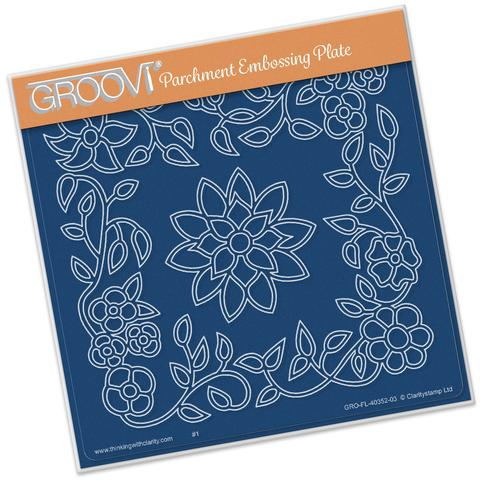 Flower Tangle Frame <br/> A5 Square Groovi Plate