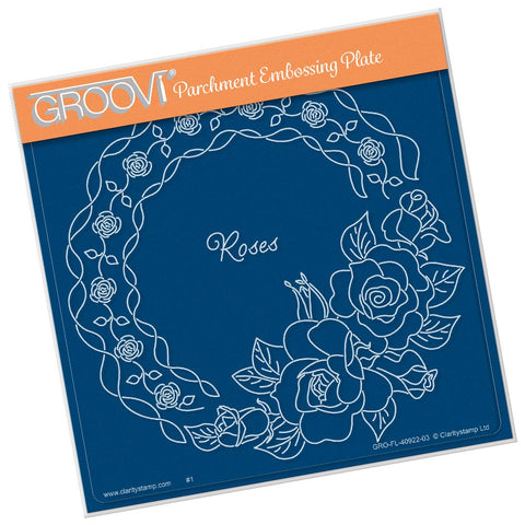 Linda's Roses & Lace <br/> A5 Square Groovi Plate