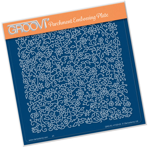 Floral Flourish Background <br/> A5 Square Groovi Plate