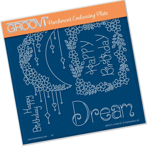 Tina's Dream Flowers <br/> A5 Square Groovi Plate <br/> (PRE-ORDER)