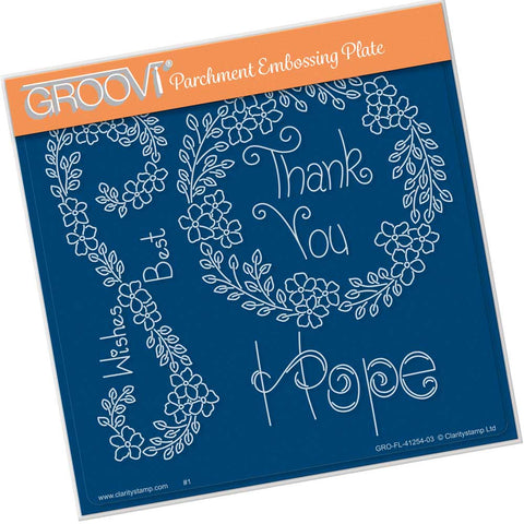Tina's Hope Flowers <br/> A5 Square Groovi Plate <br/> (PRE-ORDER)