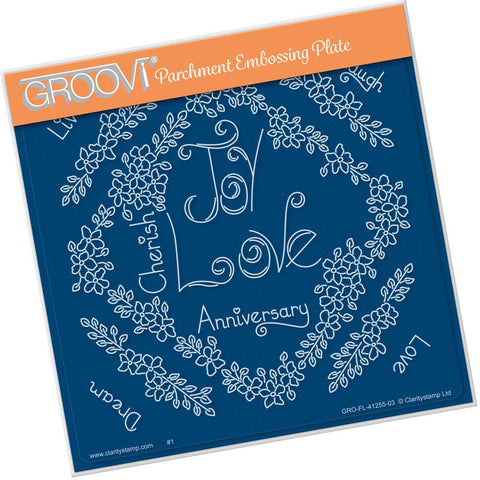 Tina's Love Flowers <br/> A5 Square Groovi Plate <br/> (PRE-ORDER)