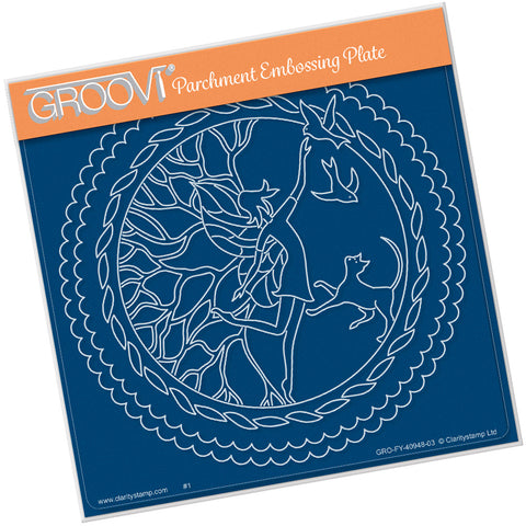 Fairy Enchantment Round <br/> A5 Square Groovi Plate