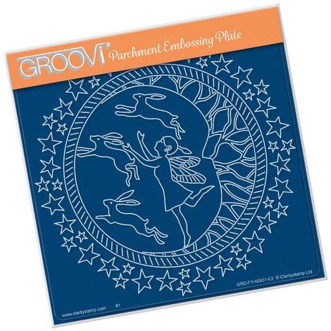Fairy Night Round <br/> A5 Square Groovi Plate