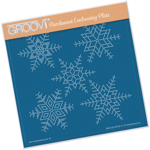 Large Snowflakes Groovi® Grid <br/> A5 Square