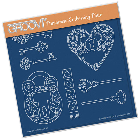 Key To My Heart <br/> A5 Square Groovi Plate