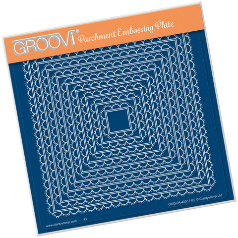 Nested Scallops Square <br>Groovi Plate A5 Square