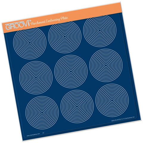 Framework Circles <br/> A4 Square Groovi Plate
