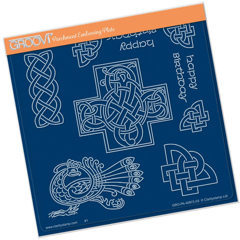 Celtic Patterns <br/> A5 Square Groovi Plate