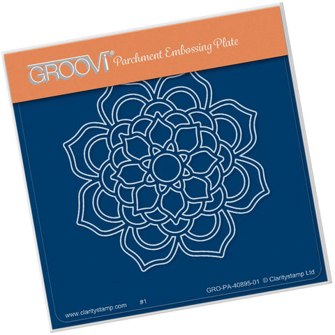 Bloom Mandala <br/> A6 Square Groovi Plate