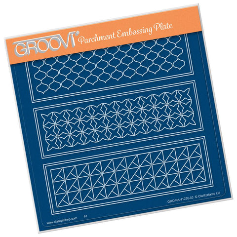 Geo Layering Panel <br/> A5 Square Groovi Plate