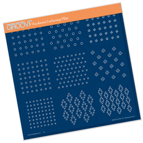 Linda Williams' Swiss Dots <br/> A4 Square Groovi Plate