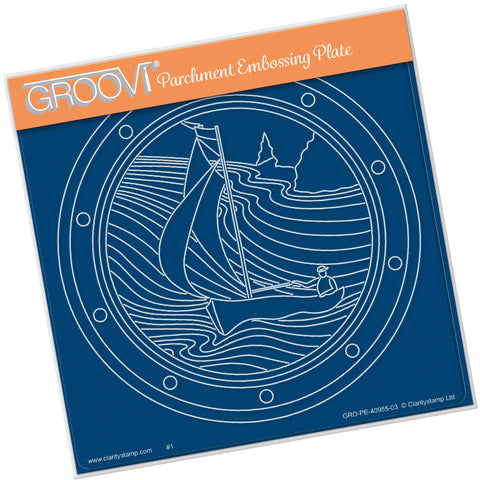 Sailor Round  <br/> A5 Square Groovi Plate