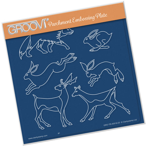 Woodland Animals <br/>Groovi Plate A5 Square